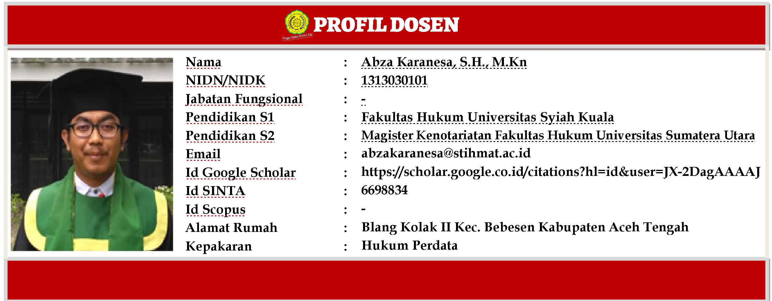 Profil Dosen Abza
